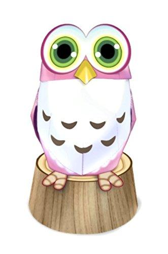 Owl Chic Animal Paper Craft Mini Model Easy Fun