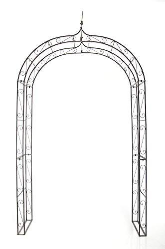 CLP Arcade de Jardin en Fer Forgé Lenz - Arche à Rosiers Robuste et Stable - Support pour Plantes Grimpantes - Hauteur 264 cm - Couleur:, Couleur:Marron Clair