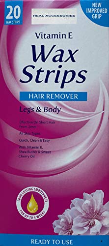 Legs & Body Wax Strips – Easy & Quick Way of Hair Removal at Home, Salon or Parlour ALL SKIN TYPES...