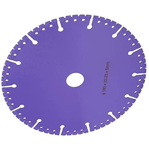 Hoja de sierra soldada al vacío, práctica y duradera Mejora la eficiencia del trabajo Durable para usar Hoja de sierra de demolición para fábrica para el hogar(180mm in diameter)