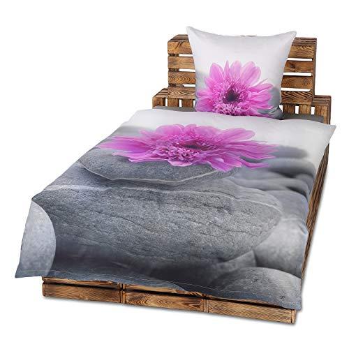 80x80 Kissenbezug Baumwolle 2-4 teilig tlg Premium Satin Bettwäsche 135x200