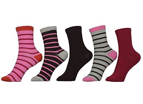 Melton Kindersocken 5er Pack Mädchen Strümpfe Socken (880006/785) Plum Gr. 17/19