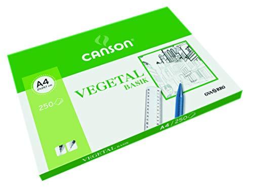 Canson Paquete A4, (250 Hojas) Guarro Vegetal Basik 90 g, Transparente