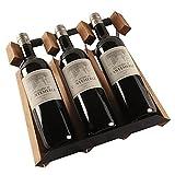 WHL Estante de Vino de Madera Maciza Conjuntos de Vino portátil...