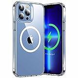 ESR iPhone 13 Pro ケース ハイブリッドケース HaloLock付き 磁気ワイヤレス充電 透明 黄変しにくい 落下保護性能改善 傷に強い背面 6.1インチ クリア