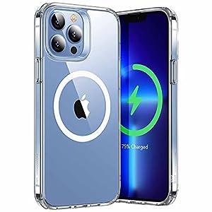 """ESR iPhone 13 Pro ケース ハイブリッドケース HaloLock付き 磁気ワイヤレス充電 透明 黄変しにくい 落下保..."""""""