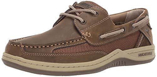 Margaritaville Men's Anchor Lace Boat Shoe, Brown, 9 Wide