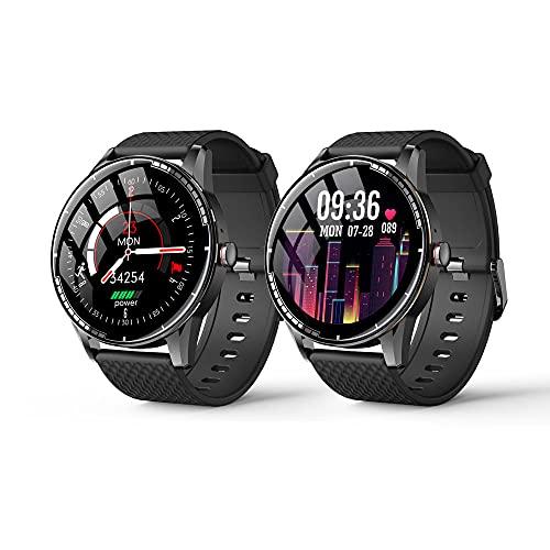Reloj Inteligente, Contador de Pasos para Mujeres Relojes para Hombres con Ritmo Cardíaco Monitor de Presión Arterial, Reloj a Prueba de Agua con Monitor de Sueño, Reloj para Compatible para Mujeres.