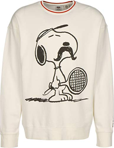 Levis x Peanuts Relaxed Crew Sweatshirt Tennis Snoopy Mars S
