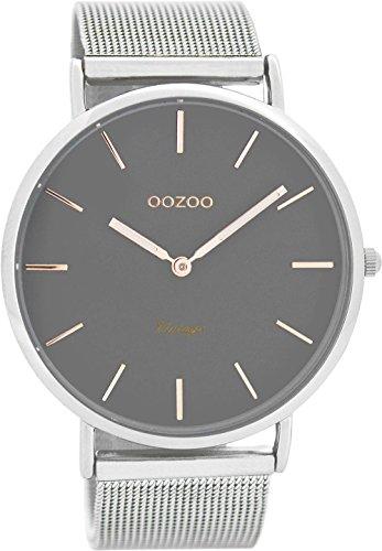 Oozoo Vintage Ultra Slim Metallband 44 MM Silber/Grau C7721