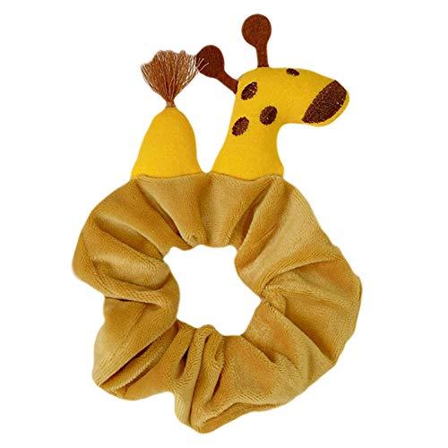 Fun Animal Orears Dibujos Animados Diadema, Ojos de Rana Lindos Giraffe Plush Scrunchies Titular Party Styling Accesorios para Mujeres Niños Regalos TINGG (Color : C)