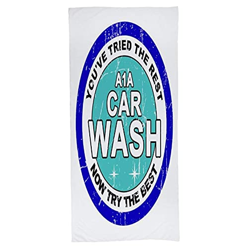 A1A Car Wash Breaking Bad Toallas de baño Estampadas Suaves.Toalla Absorbente.Utilizado principalmente en baños y gimnasios.Largo x Ancho (55 x 27) Pulgadas