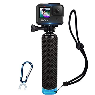 Waterproof Floating Hand Grip Compatible with GoPro Camera Hero 5 Session Black Silver Hero 6 5 4 3 2 1 Handler & Handle Mount Accessories Kit for Action Cameras from MiPremium