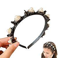 ZHA 韓国のヘアバンド 伸縮性のある ラインストーンビーズ 女性のヘアバンド オプションのスタイル 手作り 女の子のヘアアクセサリー 1個 ヴィンテージジュエリー ヘアバンド