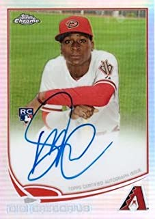 2013 Topps Chrome Refractor #65 Didi Gregorius Certified Autograph Baseball Rookie Card - Only 499 made!