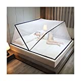 MKML Foldable Bottomless Mosquito Net, Portable Anti-Mosquito Cover, Folding Crib Mosquito Net Tent for Travel Home Outdoor (190 * 135 * 80CM,Navy)