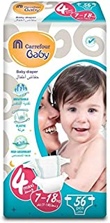 Carrefour Baby Diapers Size 4 Maxi 7-18kg 56 Counts