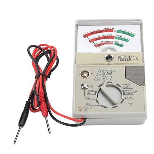 Comprobador de batería de reloj, herramienta de reparación de reloj, amplia gama de uso duradera para relojeros, comprueba la condición de la batería, prueba fácilmente la batería del reloj.