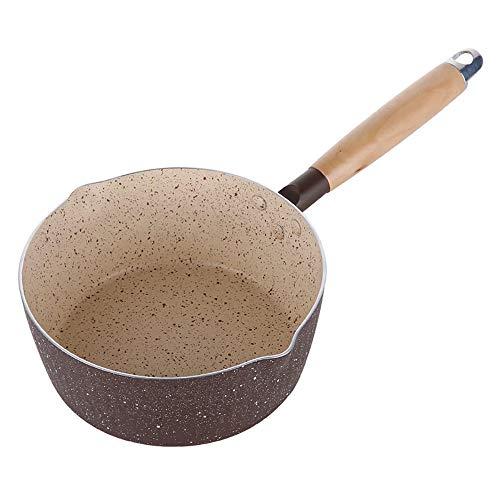 Melkpot Mini Melkpan met tuit - Perfect voor het koken van melk, saus, gravies, pasta, noedels (het product bevat geen deksel) Multifunctioneel gebruik voor thuiskeuken of restaurant