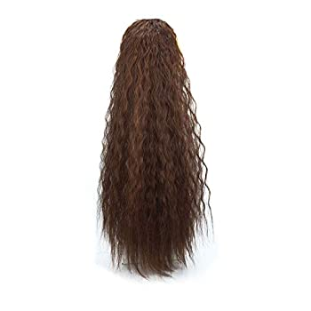 GUANGHE Long Curly Drawstring Ponytail for Women 22 inch Clip in Wavy Natural Ponytail Extension for Womens 2-30