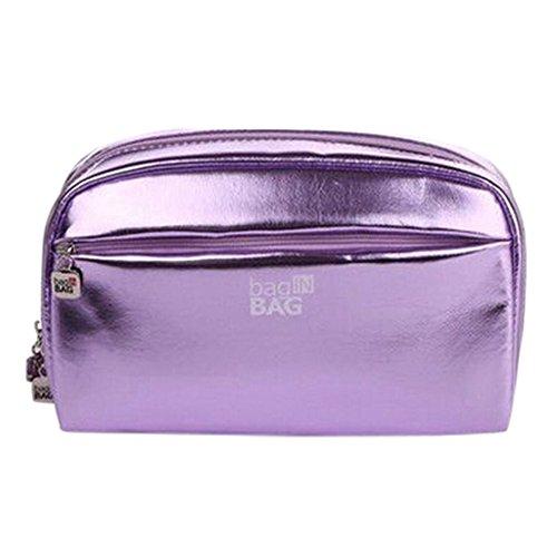 Grande Capacité étanche Maquillage Voyage cosmétique sac à main/Case Violet