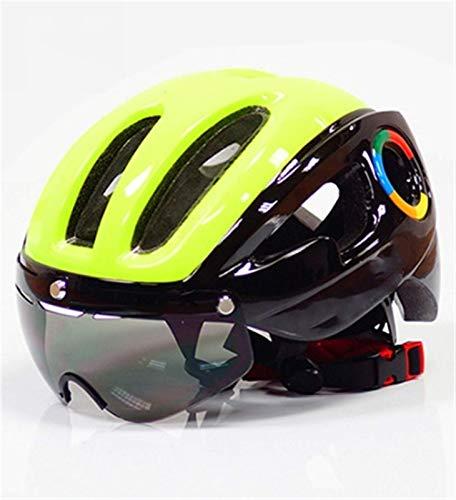 270g EPS Ultraligero Casco de Bicicleta para Hombres Road MTB Montaña Bicicleta de montaña Lentes Casco Gafas Equipo de Ciclismo 9 Ventilaciones (Color: a) (Color : D)