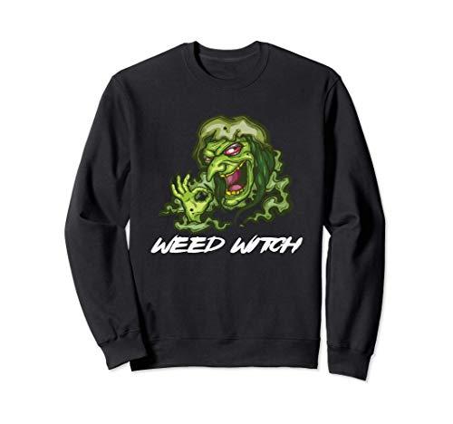 Halloween Weed Witch Disfraz marihuana cannabis Sudadera