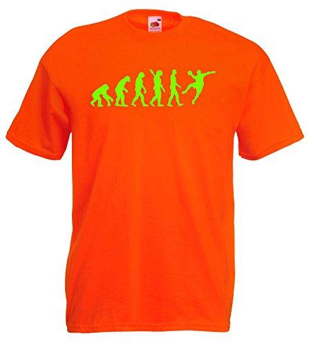 Handball Herren Evolution T-Shirt WM Sport Shirtorange/neongrün-S