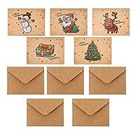 Frcolor クリスマスカード クリスマス 飾り お祝いカード メッセージカード 封筒付き 5枚セット