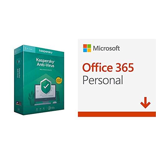 Kaspersky Anti-Virus 2020 Standard | 1 Gerät | 1 Jahr | Aktivierungscode in Standardverpackung + Microsoft Office 365 Personal multilingual | 1 Nutzer | Download