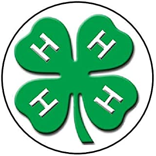4 H clover stickers, round with a matte finish (not glossy stickers)