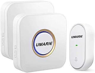 comprar comparacion Timbre Inalámbrico sin Pilas para Puerta, IP55 Impermeable Timbre Wireless Exterior, Indicadores LED Flash, 150M de Alcanc...
