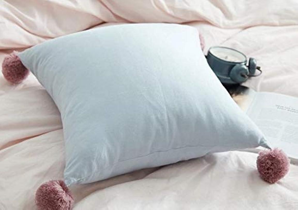 スパイ特権ファーザーファージュChaopeng 正方形のボール枕地中海の北欧無地シンプルな枕ホームクッションホームクッション (Color : ホワイト)