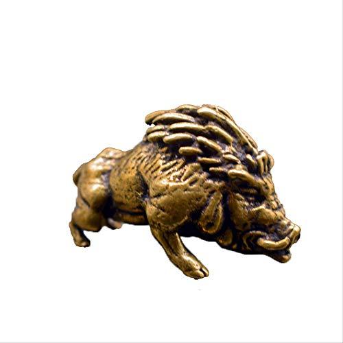 Retro Do Old Crafts - Pose de cobre puro jabalí de cobre tallado para mascotas de cobre pequeño colección de animales