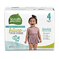 Seventh Generation Baby Diapers Sensitive Protection Free & Clear with New Absorbancy Layer and 12hr Protection Size 4 25 Count