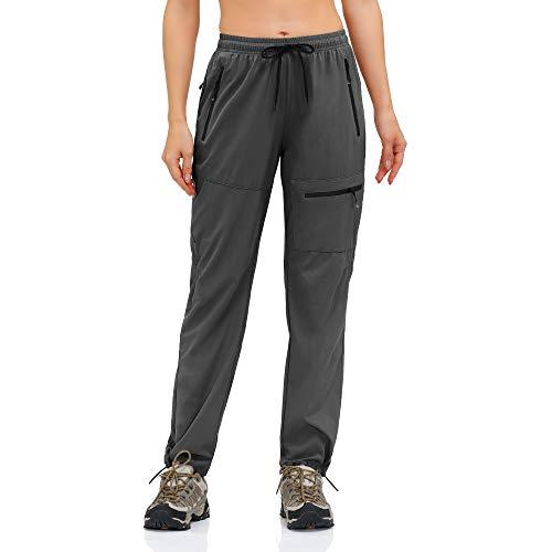 HMIYA Pantalones Trekking Mujer Pantalón de Senderismo Ligeros Secado Rápido Protección UV...