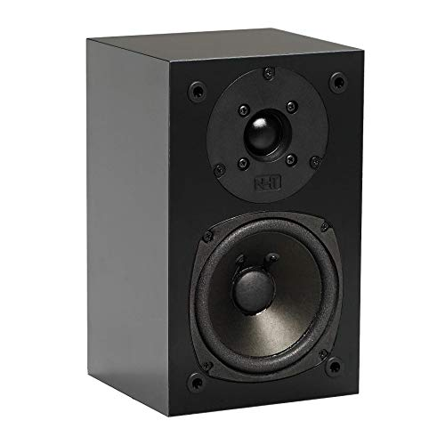 NHT SuperZero 2.1 Premium Home Theater Bookshelf Speaker - Clean, Hi-Res Audio | Sealed Box | Mini-Monitor | Single Unit, Gloss Black
