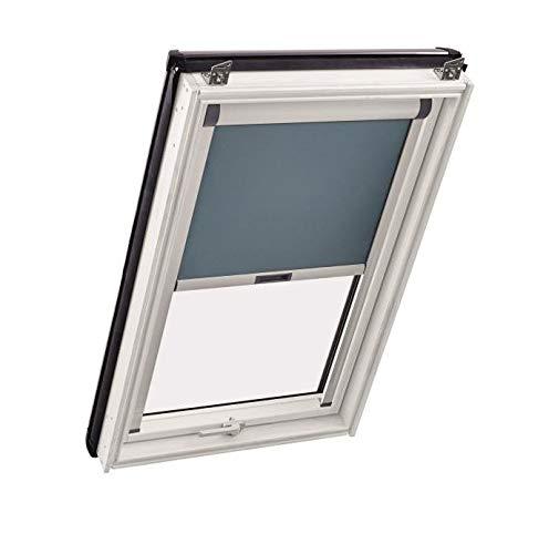 Komplettpaket Sunblock Roto Dachfenster aus Kunststoff inkl. Verdunkelungsrollo V06 (Eindeckrahmen: ZIE, 94 x 118)