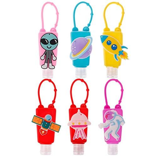 7thLake 6 Stück 30ml Tragbare Reiseflaschen Set Cartoon Nachfüllbare Leere Flasche & Behälter für Handwaschflüssigkeit, Shampoo, Toilettenartikel, Duschgel Reise Zubehör für Kinder