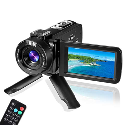 Digital Video Camera YouTube Vlogging Camcorder, HD 1080P 30FPS 24MP 16X Digital Zoom 3.0 Inch 270 Degree Rotation LCD, Video Camera Digital Students Cameras, for Men/Women/Seniors/Kids