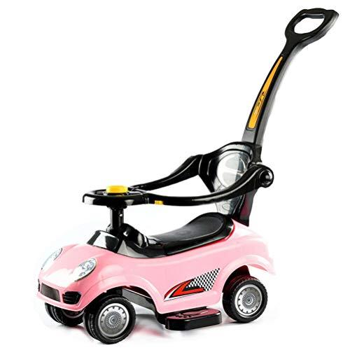 Baby Push Car, 3 in 1 Fahrt auf Push Car Sicherheitsbarriere Schieben entlang Baby Kids Kleinkind Auto, Kleinkind lernen Fuß zu Boden, abnehmbarer Elterngriff & Sicherheitsstangen Baby Kinderwagen