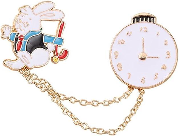 WYBFZTT-188 Bunny Gentleman Enamel Pins on-time Animal Bag Brooch Lapel Badge Cartoon Jewelry Gift for Kids Friends