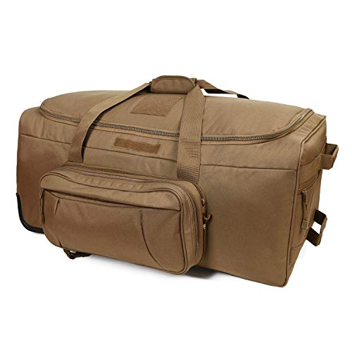 Rolling Loadout Luggage Bag with Wheels,Hockey Bag, Duffle Bag With Rollers,124L X-Large Heavy Duty Oversized Storage Bag,Tactical Wheeled Deployment Trolley Camping Bag