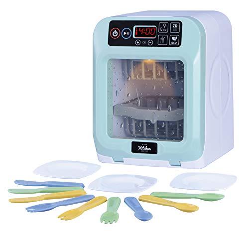Oojami My First Kitchen Appliance Juego de lavaplatos Incluye Platos y Cubiertos, Sonidos y Luces realistas, es un Regalo Ideal para niños