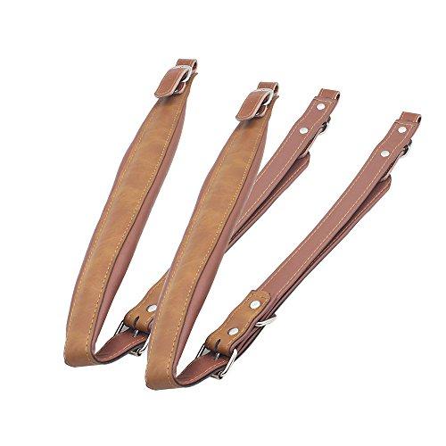 ammoon Akkordeon Schultergurte Einstellbar Kunstleder Ein Paar für 16-120 Bass Akkordeons