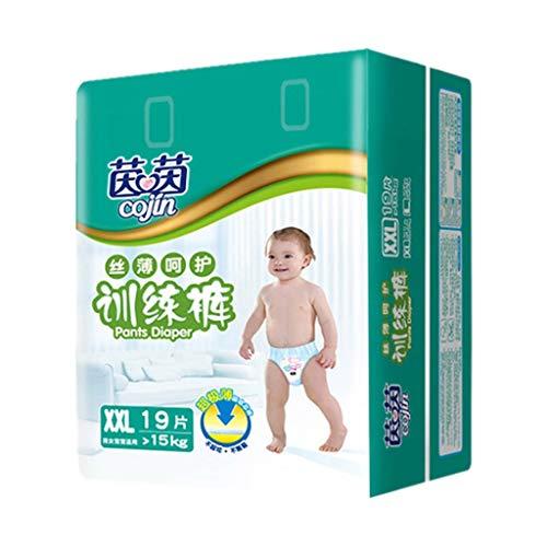 DeHolifer Windeln Ultradünne atmungsaktive Einwegwindeln für Baby Coterie Bequem für die Haut Hochwertige Windeln Über 15 kg, 1er Pack (1 x19 Stück) XXL