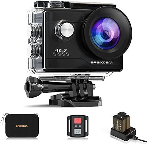 Action Camera 4K Sports Camera 20MP 40M 170°Wide-Angle WiFi waterproof Underwater Camera with 2.4G Remote Control 2 Batteries 2.0» LCD Ultra HD Camera with Mounting Accessories Kit [2021 NEW VERSION]