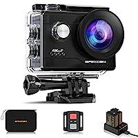 📷【Professionelle 4K Ultra HD Action-Kamera】: Verfügbar in 4K / 30FPS, 2.7K / 30FPS, 1080P / 60FPS, 1080P / 30FPS, 720P / 60FPS und 720P / 120FPS Videoauflösungen. Mit 20-Megapixel-Bildern und einem 170 ° Super-Weitwinkel-6G-Fischaugenobjektiv können ...