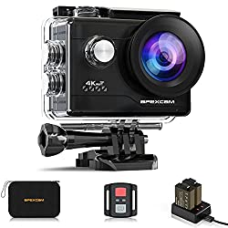 """""""2021 NEW VERSION 4K Action Camera 20MP Underwater Waterproof Camera 40M 170°Wide-Angle WiFi Sports Camera with 2.4G Remote Control 2 Batteries 2.0 LCD Ultra HD Camera with Mounting Accessories Kit"""""""