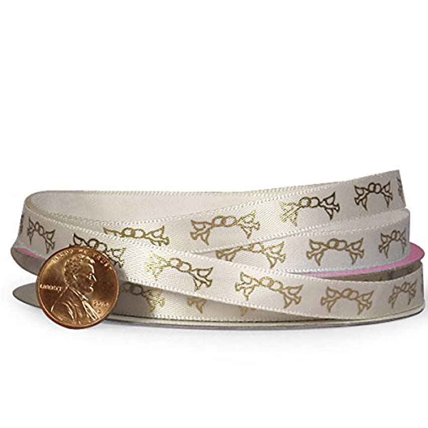 Ring And Dove Printed Ribbon, 3/8